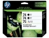 HP 74 75 BLACK / TRICOLOR INK CARTRIDGES 3PK (SD422AN#140)