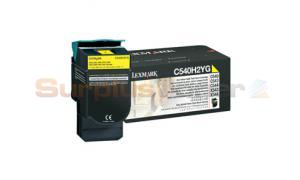 LEXMARK C540 C543 TONER CARTRIDGE YELLOW 2K (C540H2YG)