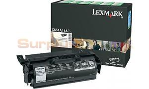 LEXMARK X651DE RP PRINT CARTRIDGE BLACK 7K (X651A11A)