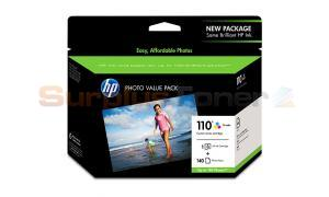 HP CUSTOM 110 SERIES INK CMY PHOTO VALUE PACK 140-SHEET (Q8700BN)