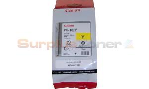 CANON PFI-102Y INK TANK YELLOW 130ML (0898B001)