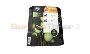 HP NO 62XL INK CARTRIDGE TRI-COLOR TWIN PACK (T0B32BN)