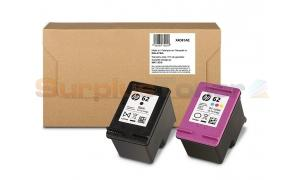 HP 62 INK CARTRIDGE MAILABLE BLACK/TRI-COLOR 2PACK (X4D81AE)