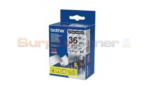 BROTHER TZ EXTRA-STRENGTH TAPE BLACK/CLEAR 1-1/2IN (TZ-S161)