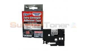 BROTHER TZ EXTRA-STRENGTH TAPE BLACK/SILVER 3/4IN (TZ-S941)