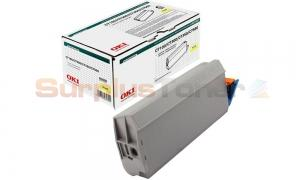 OKIDATA C7100/C7300/C7500 TYPE C4 TONER YELLOW (41963083)