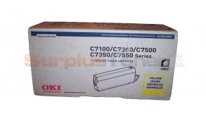 OKIDATA C7100/C7500 TYPE C4 TONER YELLOW (41963001)