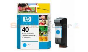 HP NO 40 INK CART CYAN 42ML (51640C)