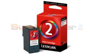 LEXMARK Z1380 NO 2 PRINT CARTRIDGE TRI-COLOR (18C0190)