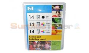 HP NO 14 INK CARTRIDGE 1 BLACK /2 TRI-COLOR COMBO PACK (C8801BN)