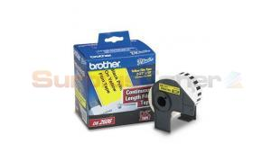 BROTHER P-TOUCH BLACK ON YLW CONT. FILM 2-3/7IN (DK2606)