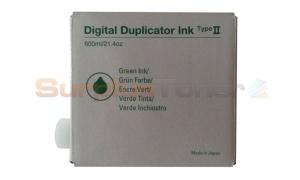 RICOH TYPE II DIGITAL DUPLICATOR INK GREEN (893040)
