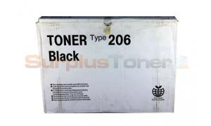 RICOH AFICIO AP206 TONER CARTRIDGE BLACK (400998)