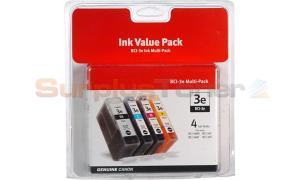 CANON BCI-3E INK TANK BLACK/CMY VALUE PACK (4479A230)