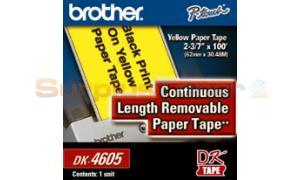 BROTHER P-TOUCH YELLOW REMOV CONT TAPE 2-3/7IN (DK4605)