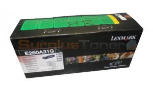 LEXMARK E260 GOV TONER CARTRIDGE (E260A31G)