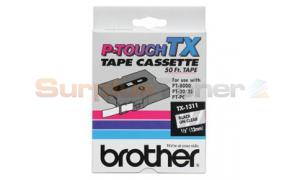 BROTHER TX TAPE BLACK ON CLEAR 12 MM X 15 M (TX-1311)