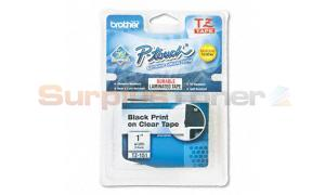 BROTHER P-TOUCH TAPE BLACK/CLEAR (1 X 26) (TZ-151)