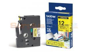 BROTHER P-TOUCH TAPE BLACK/YELLOW (1/2 X 26) (TZ-631)