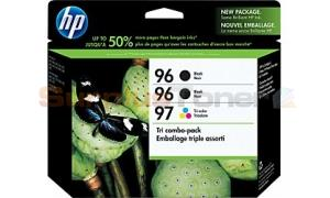 HP NO 96 97 INK CARTRIDGES 2-B/1-C 3PK (CC633FN)