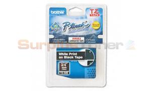 BROTHER TZ TAPE CTG WHITE ON BLACK 3/4IN WIDTH (TZ-345)