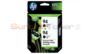 HP NO 94 INK CARTRIDGE TWIN PACK BLACK (C9350FL)
