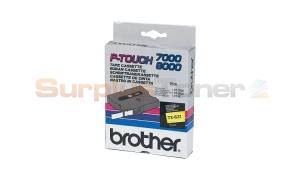 BROTHER TX TAPE BLACK ON YELLOW 12 MM X 15 M (TX-631)
