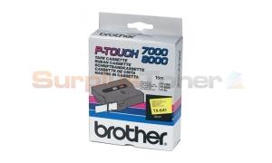 BROTHER TX TAPE BLACK ON YELLOW 18 MM X 15 M (TX-641)