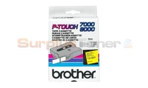 BROTHER TX TAPE BLACK ON YELLOW 24 MM X 15 M (TX-651)