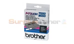 BROTHER TX TAPE WHITE ON BLACK 6 MM X 15 M (TX-315)