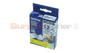 BROTHER TZ LAMINATED TAPE BLUE ON CLEAR 12MM X 8M (TZ-133)