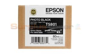 EPSON STYLUS PRO 3800 ULTRACHROME INK CARTRIDGE PHOTO BLACK 80ML (T580100)