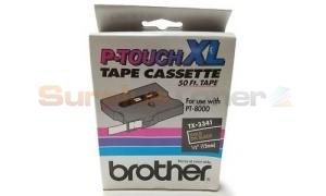 BROTHER TX TAPE GOLD ON BLACK 12 MM X 15 M (TX-3341)