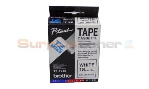 BROTHER TZ TAPE WHITE 18 MM X 8 M (TZ-T240)