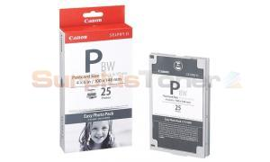 CANON SELPHY ES1 E-P25BW PHOTO PACK BLACK 25 PHOTOS (1251B001)