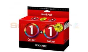 LEXMARK NO 1 PRINT CARTRIDGES COLOR (0080D2955)