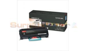 LEXMARK X463DE TONER CARTRIDGE BLACK 15K (X463X21G)