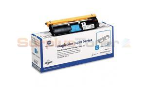 QMS MAGICOLOR 2400 TONER CYAN HY (TYPE AM) (1710587-007)