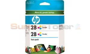 HP NO 28 INK CARTRIDGE COLOR TWIN-PACK (CD995FN)