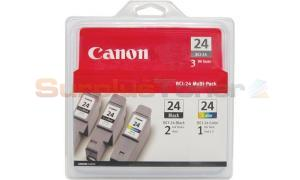 CANON BCI-24 COMBO PACK 2BLK 1CLR (6881A039)