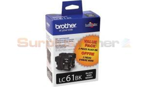BROTHER MFC-6490CW INKJET CART BLACK (LC61-2PKS)