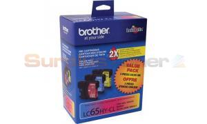 BROTHER MFC-6490CW INKJET CART TRI-COLOR HY (LC65-3PKS)