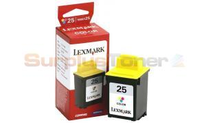 LEXMARK NO 25 PRINT CARTRIDGE TRI-COLOR HY (15M0125)