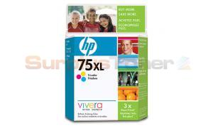 HP NO 75 XL INK CARTRIDGE TRI-COLOR (CB338WC)