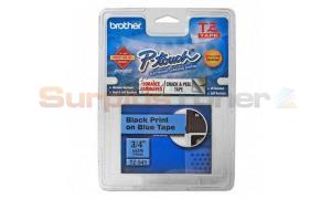 BROTHER P-TOUCH TAPE BLACK/BLUE (3/4 X 26) (TZ-541)