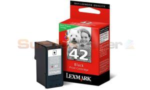 LEXMARK NO 42 PRINT CARTRIDGE BLACK RP (18Y0142)