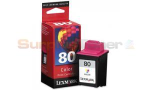 LEXMARK 80 PRINT CARTRIDGE COLOR (12A1980)