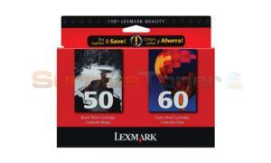 LEXMARK NO. 50 60 INK CART CMYK COMBO PACK (15M2327)