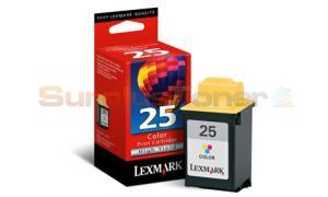 LEXMARK NO 25 PRINT CARTRIDGE TRI-COLOR HY (15M0125E)