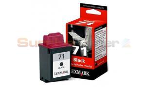 LEXMARK NO. 71 7000 7200 PRINT CTRG BLACK MOD USE (15MX971E)